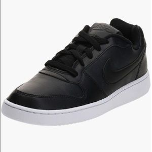 NIB Nike Ebernon Low Black White Sneakers